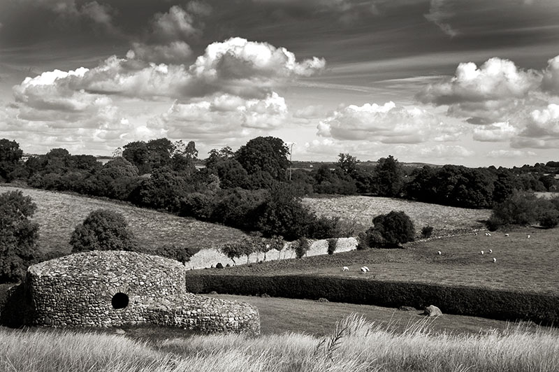 A stone folly behind New Grange in county Meath, Ireland.
