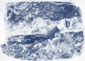 An adventurous mermaids ventures of the rapids of a creek.